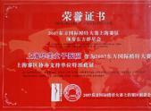 2007东方国际模特大赛中国赛区协办单位
