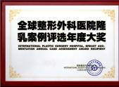 全球整形外科医院隆乳案例评选年度大奖