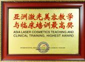亚洲激光美容教学与临床培训最高奖