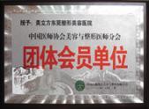 中国医生协会美容与整形美容与整形医师分会团体会员单位