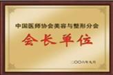 中国医师协会美容与整形分会会长单位