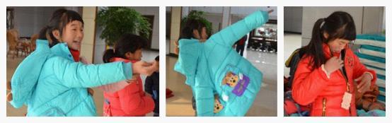 孩子们在试衣服