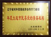 2010年度大连市民喜爱的美容机构