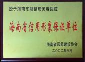 海南省信用形象保护单位
