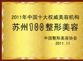 2011年中国十大权威美容机构