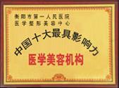 中国十大最具影响力整形医院