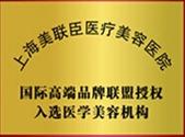 国际高端品牌联盟授权入选医学美容机构