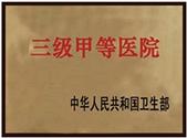 中国人民共和国卫生部认证国家三级甲等医院