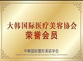 大韩国际医疗美容协会荣誉会员