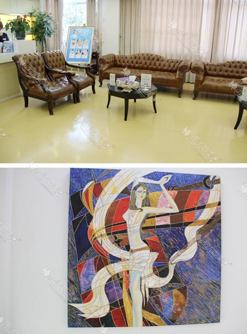 上海华美医疗美容医院二楼休息区