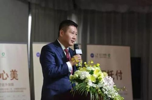 联合丽格医生集团董事长李滨发表讲话