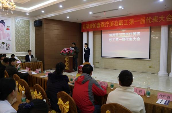 芜湖壹加壹职工工会成立现场选举情况