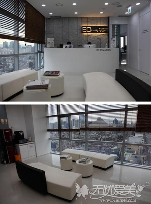 韩国美之爱整形外科14楼大厅