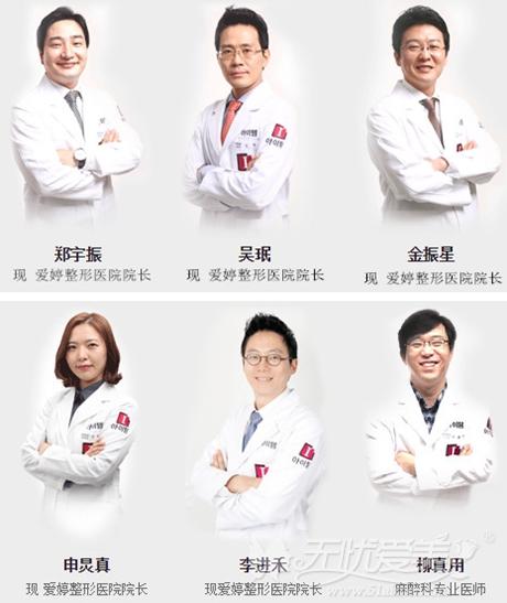 韩国ITEM(爱婷)整形外科医生团队