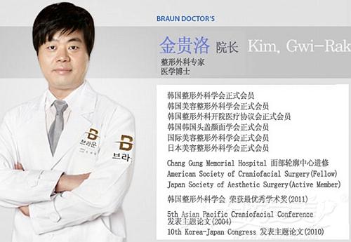 金贵洛 韩国博朗温整形外科院长