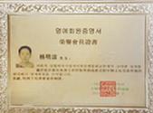 大韩整形美容外科协会荣誉会员证书