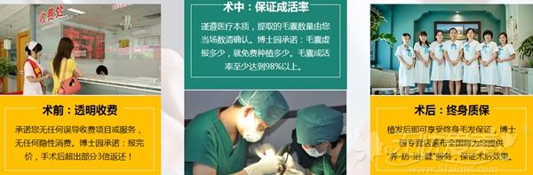 北京博士园植发术前—术后的全过程