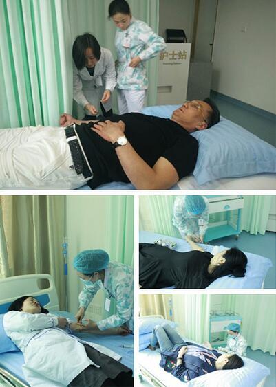 PRP+水光针治疗过程  第一步:抽血