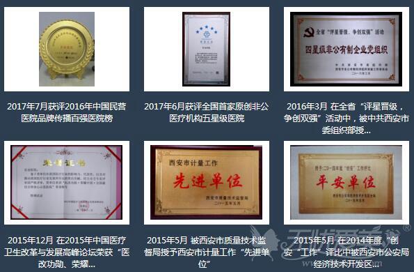 西安长安医院历年来获得荣誉