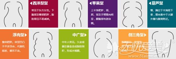 武汉珍妮整形医院吸脂手术可以改善的体型