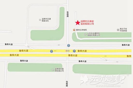 淄博阳光整形医院位置