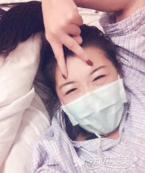 小莹在广州华美接受激光去肥胖纹手术后照片