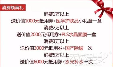 广州华美2017年终整形优惠消费满额礼
