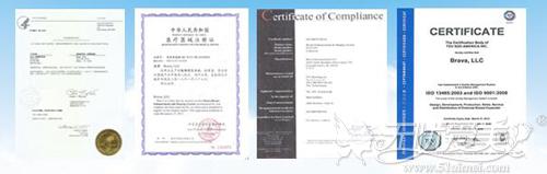 Brava隆胸系统认证证书