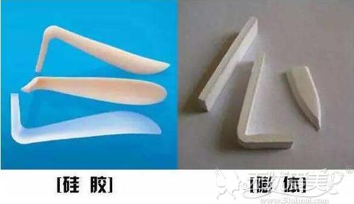 硅胶和膨体隆鼻假体材料