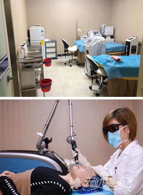 西安西美整形医院激光室