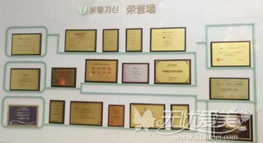 广州紫馨整形部分荣誉概览