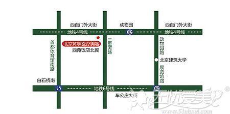 北京韩啸整形位置和来院路线