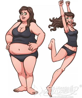 胖瘦的区别美