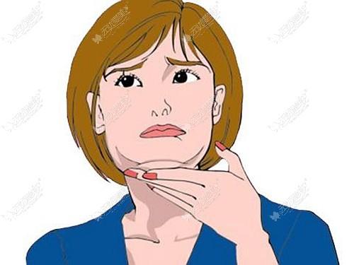 做完下颌角后出现严重的双下巴,这是不是说明脸下垂了?